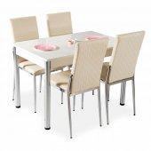 Masa Sandalye Takımı Mutfak Masa 4 sandalye + Masa-7