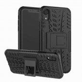 Edelfalke Apple iPhone XR 6.1 Hibrit Silikon Kılıf-Siyah