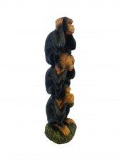 Dekoratif Üst Üste Binmiş Üç Maymun Biblo Ev Dekorasyon Süs-2