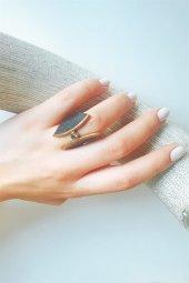 Zirkon Taşlı Gümüş Tasarım Yüzük-2