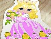 Prınces Prenses 100x160 Pembe Çocuk Odası Halısı Ç...