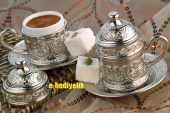 Bakır Kahve Fincanı Osmanlı İşlemeli