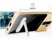 Eiroo Samsung Galaxy S9 Plus Rose Gold Kenarlı Standlı Kılıf-3