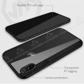 Joyroom Phantom iPhone X / XS Beyaz Silikon Kenarlı Rubber Kılıf-2