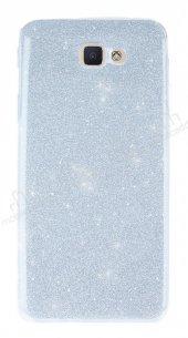 Samsung Galaxy J5 Prime Simli Silver Silikon Kılıf