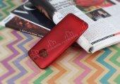 HTC One M9 Plus Mat Kırmızı Silikon Kılıf-3