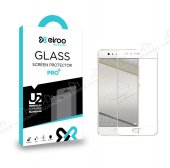 Eiroo Huawei P10 Lite Curve Full Beyaz Cam Ekran Koruyucu
