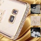 Dafoni Samsung Galaxy S8 Plus Renkli Taşlı Siyah Silikon Kılıf-5