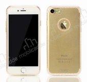Remax Sunshine iPhone 7 Şeffaf Gold Silikon Kılıf