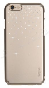 Ringke Noble Slim iPhone 6 Plus / 6S Plus Taşlı Gold Rubber Kılıf