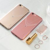 Ringke Noble Slim iPhone 6 Plus / 6S Plus Taşlı Gold Rubber Kılıf-4