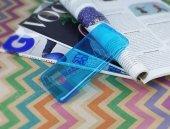 Samsung Galaxy S7 edge Ultra İnce Şeffaf Mavi Silikon Kılıf-2
