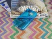 Samsung Galaxy S7 Ultra İnce Şeffaf Mavi Silikon Kılıf-3