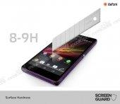 Dafoni Sony Xperia Z Tempered Glass Ayna Gold Cam Ekran Koruyucu-2