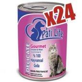 Pati Life 24lü Tavuk Etli Konserve Yaş Kedi Maması 415 Gr