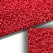 Kıvırcık Paspas Kaydırmaz Halı Kırmızı 120 Cm 14 Mm