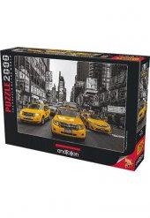 New York Taxi 2000 Parça Puzzle - Assaf Frank - Anatolian
