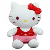 Peluş Hello Kitty Elbiseli Kurdeleli 50Cm-3