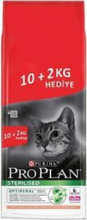 Kısırlaştırılmış Kediler İçin Pro Plan Somonlu Mama 10 Kg + 2 Kg
