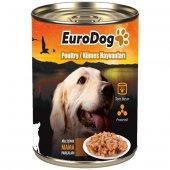 Eurodog Köpek Konservesi Kümes Hayvanlı 415 Gr