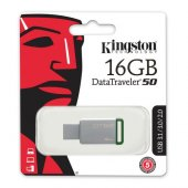 Kingston 16gb Usb3.1 Memory Dt50 16gb Metal Yeşil...