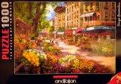 1000 Parça Puzzle Yapboz 48x66 3106 Paris Çiçek Pa...