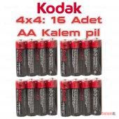 Kodak 16 Adet Aa Çinko Karbon Kalem Pil (Super Heavy Duty) Kalite