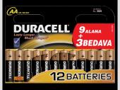Duracell Alkalinli Pil Lr06 Mn1500 Kalem Pil Aa (12 Adet)