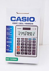Casio Ms 120bm Küçük Hesap Makinesi Metal Tax...