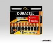 Duracell Aa 18 Adet 1.5v Alkalin Orjinal Pil...