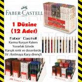 FABER CASTELL YUVARLAK KURŞUN KALEM 1 DÜZNE (12 ADET) FARKLI RENK-2