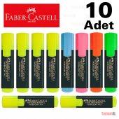 Faber Castell Fosforlu Kalem İşaretle Kalemi 1548 Textliner 10 Ad