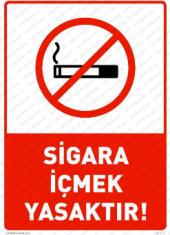 Sigara İçmek Yasaktır Levhası 5 Adet Fiyatıdır