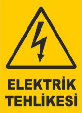 Elektirik Tehlikesi Uyarı Levhası 5 Adet Fiyatıdır