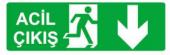Kapı Üstü Exit Çıkış Levhası (5 Adet)