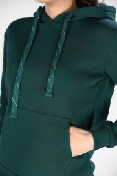 Sevgili Kombinleri Yeşil Sweatshirt Basic 3 İPLİK Kalın Kumaş-2