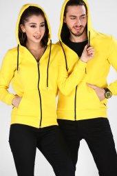 Sevgili Kombinleri Kalın 3 İPLİK Sweatshirt Kanguru Cep-Fermuarlı-2
