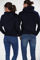 Sevgili Kombinleri Lacivert Sweatshirt Basic Kapüşonlu-2