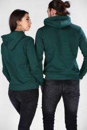 Sevgili Kombinleri Yeşil Sweatshirt Basic 3 İPLİK Kalın Kumaş-3
