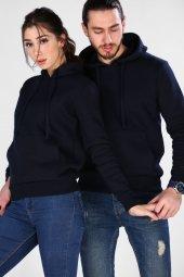 Sevgili Kombinleri Lacivert Sweatshirt Basic Kapüşonlu-3