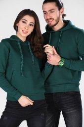 Sevgili Kombinleri Yeşil Sweatshirt Basic 3 İPLİK Kalın Kumaş-4