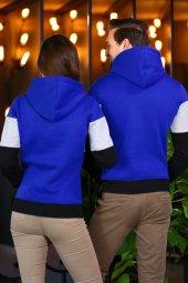 Sevgili Kombinleri Renkli Sweatshirt Kapşonlu My World-3
