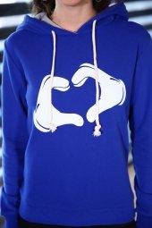 Sevgili Kombinleri Mavi Sweatshirt Kapüşonlu Kalp El-3