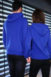 Sevgili Kombinleri Mavi Sweatshirt Kapüşonlu Kalp El-5