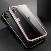 Apple iPhone XS Max 6 5 Kılıf Olix Eğimli Craft Cam Kapak