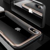 Apple iPhone XS Max 6 5 Kılıf Olix Eğimli Craft Cam Kapak -4