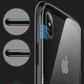 Apple iPhone XS Max 6 5 Kılıf Olix Eğimli Craft Cam Kapak -5
