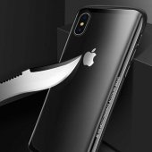 Apple iPhone XS Max 6 5 Kılıf Olix Eğimli Craft Cam Kapak -6