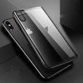 Apple iPhone XS Max 6 5 Kılıf Olix Eğimli Craft Cam Kapak -9