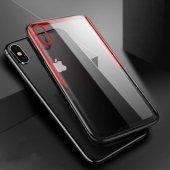 Apple iPhone XS Max 6 5 Kılıf Olix Eğimli Craft Cam Kapak -10